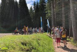 Inaugurazione del Sentiero Marciò - Parco Naturale Paneveggio Pale di S. Martino, SportABILI Predazzo. IRIFOR Trentino (Trentino Alto Adige)